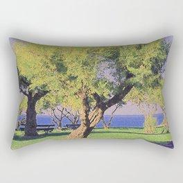 Tamarisk Trees Overlooking the Ocean Rectangular Pillow