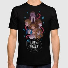 Life is Strange Black LARGE Mens Fitted Tee
