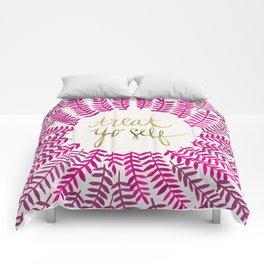 Treat Yo Self – Pink & Gold Comforters
