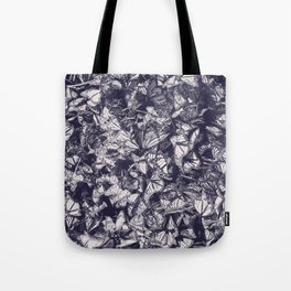 Indigo butterfly photograph duo tone blue and cream Tote Bag