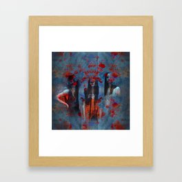 Abstract three women Framed Art Print