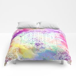 Flower Of Life (Batik 13) Comforters