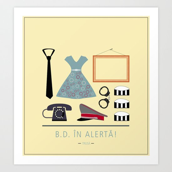 "ROMANIAN MOVIE ""B.D. IN ALERTA!"" Art Print"
