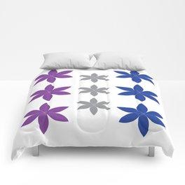Cool Colors Flower Art Comforters