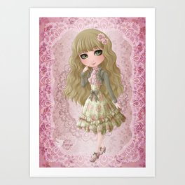 Classic Lolita Art Print
