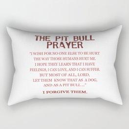 The Pit Bull Prayer Rectangular Pillow