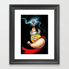 thundergod Framed Art Print