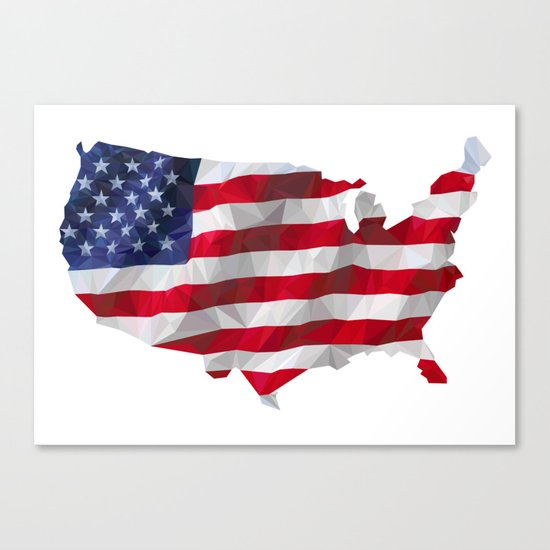 The Star-Spangled American Flag Canvas Print