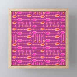 Unique Artsy Spoons! (Pink) Framed Mini Art Print
