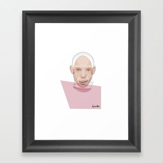 Portrait: Thierry Henry Framed Art Print