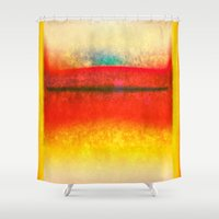 rothko Shower Curtains featuring After Rothko 8 by Gary Grayson