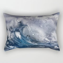 Stormy sea with water droplets Rectangular Pillow