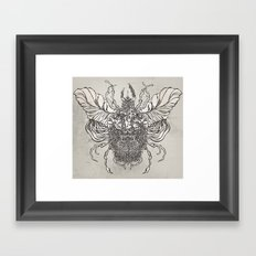 Bearded Beatle Face Framed Art Print