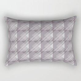 Modern Geometric Pattern 7 in Aubergine Rectangular Pillow
