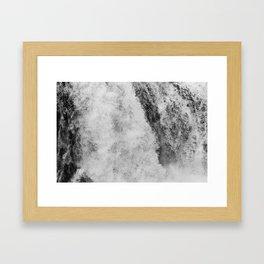 The hidden waterfall Framed Art Print