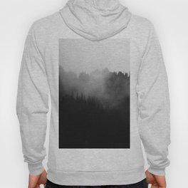 Dark Misty Mountain Forest Landscape Minimalist Landscape Photography Hoody