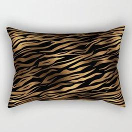 Gold and black metal tiger skin Rectangular Pillow