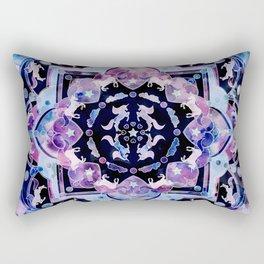 Magic ink splash unicorn universe mandala Rectangular Pillow