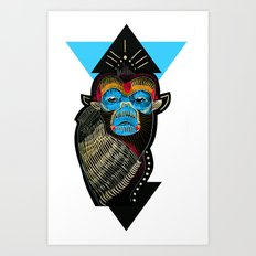 Color me Monkey Art Print