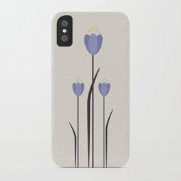 Minimal Bluebells iPhone Case