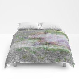 Artistic Animal capybara Comforters