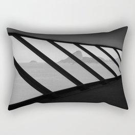 MAC Interior View | Architect Oscar Niemeyer | Niterói-Brazil Rectangular Pillow