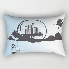 Hello Space Boy Rectangular Pillow