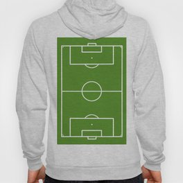 Football field fun design soccer field Hoody
