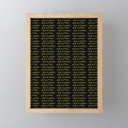 Motto in latin -ad astra per aspera Framed Mini Art Print