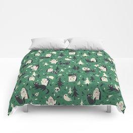 Cemetery Cuties (Green) Comforters