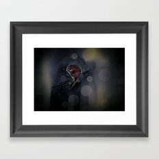 the moon asked Framed Art Print