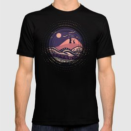Psychedelic mountains (colour option) T-shirt