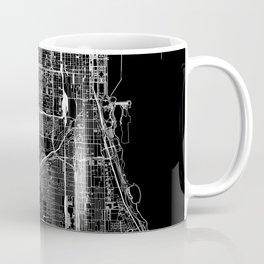 Chicago Black Map Coffee Mug
