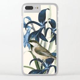 Little Bird and Flowers II Clear iPhone Case