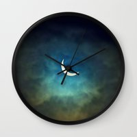 3d Wall Clocks featuring Solar Eclipse 1 by Aaron Carberry