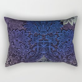 lace weave in deep blues Rectangular Pillow