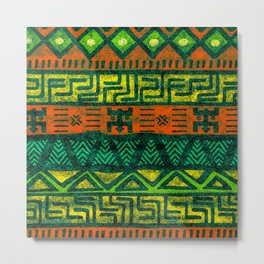 African colorful tribal pattern Metal Print