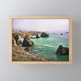early morning on the coast Framed Mini Art Print