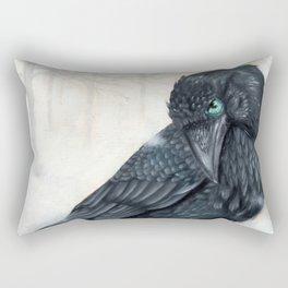 El ve a través del cuervo y controla la niebla Rectangular Pillow