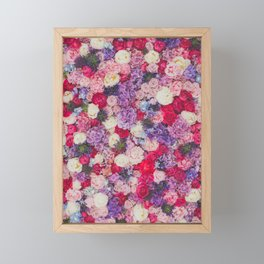 Pink & Purple Flowers Framed Mini Art Print