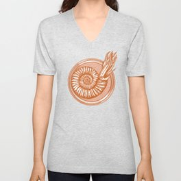 AMMONITE COLLECTION ORANGE Unisex V-Neck