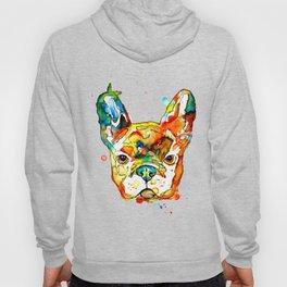 Colorful french bulldog Hoody