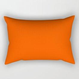 Orange Red Rectangular Pillow