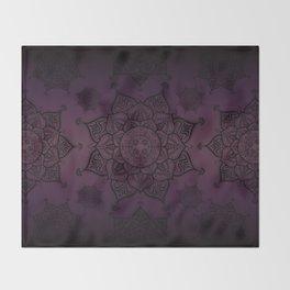 Violet & Black Mandalas Throw Blanket