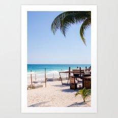 Tulum beach Art Print
