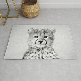 Baby Cheetah - Black & White Rug