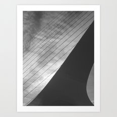 Places in Black & White: Sundial Bridge 7 Art Print