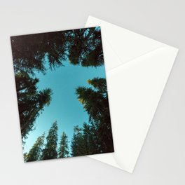 Turquoise Forest Sky Pacific Northwest Woods - Nature Photography Stationery Cards