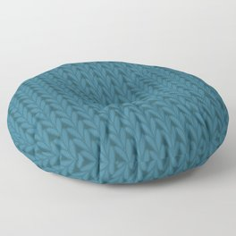 Knitted Stitches in Teal Floor Pillow