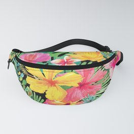 Tropical Floral Pattern Hawaii Fanny Pack